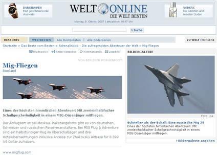 Artykuł z Die Welt - Październik 2007