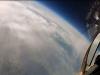 Lot na krawędź stratosfery myśliwcem MiG-29 - tu widać atmosferę Ziemi.