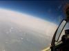 Okrąg Ziemi - widok podczas lotu na krawędź stratosfery w Rosji.