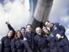 Zadowoleni uczestnicy lotu Zero G.